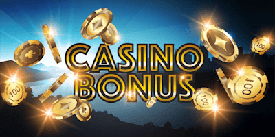 picture of casino bonus ad with shiny golden chips