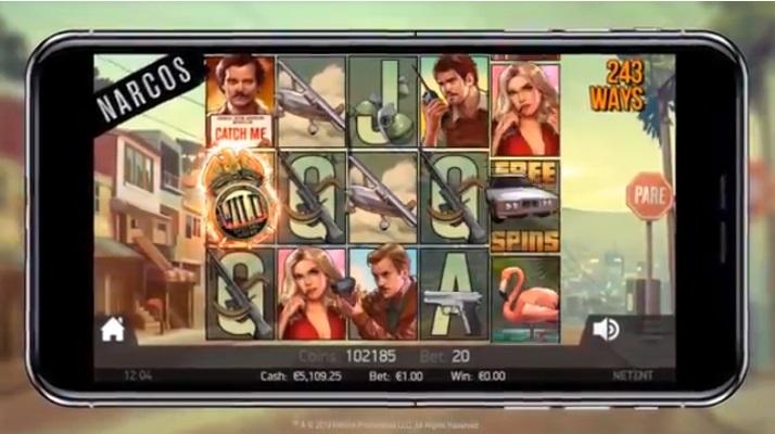 NetEnt Narcos Screenshot