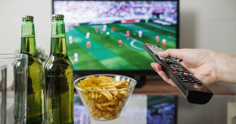 Football Match on TV