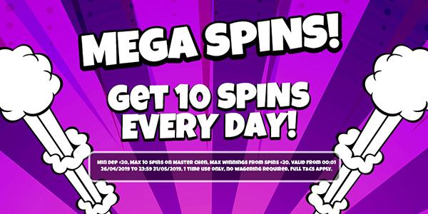 Mega Spins Everyday